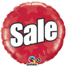"Sale Foil Balloon (18"") 1pc"